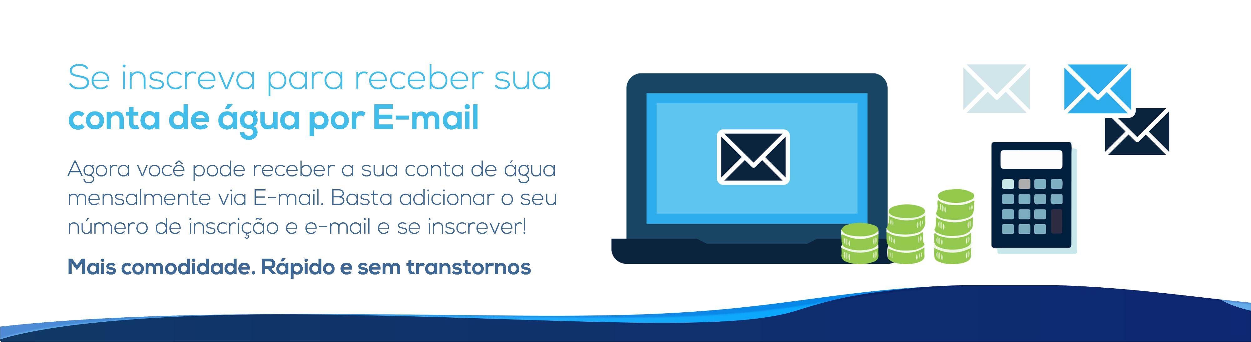 Recber conta por email